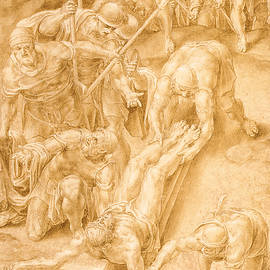 Christ nailed to the Cross - Lelio Orsi da Novellara