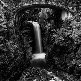 Stephen Stookey - Christine Falls - Mount Rainer National Park - bw