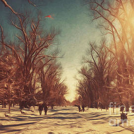 Carolyn Rauh - Christmas Day Stroll in the Park