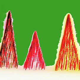 Marian Bell - Christmas Tree Abstract 103
