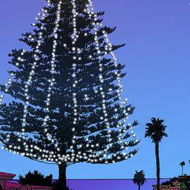 Christmas Tree at Moonlight Beach Encinitas, California - Mary Helmreich