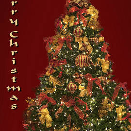 Linda Phelps - Christmas Tree in Eed and Gold