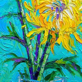 Mona Edulesco - Chrysanthemums In A Vase