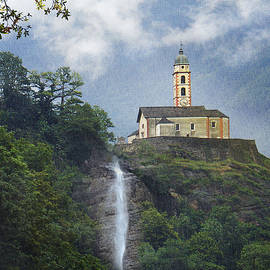 R christopher Vest - Church And Waterfall In Italy