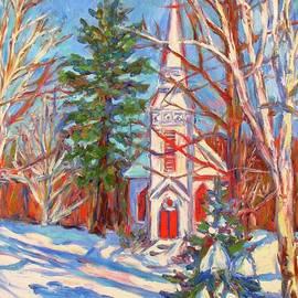 Kendall Kessler - Church Snow Scene