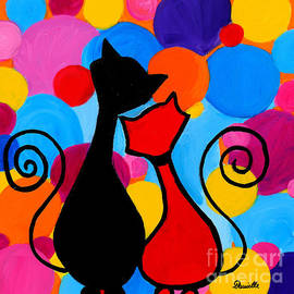 Art by Danielle - Circle Cats
