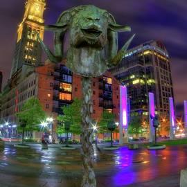 Joann Vitali - Circle of Animals - Chinese Zodiac Ram Head - Rose Kennedy Greenway - Boston