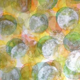Heidi Capitaine - Silver Green Yellow Circles