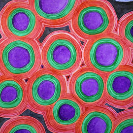Heidi Capitaine - Circles Pattern with Purple Cores