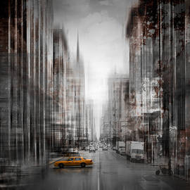 Melanie Viola - City-Art NYC 5th Avenue Yellow Cab