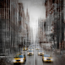 Melanie Viola - City-Art NYC 5th Avenue Yellow Cabs