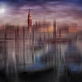 Melanie ViolaDigital-Art VENICE Gondolas at Sunset - City-Art VENICE Gondolas at Sunset
