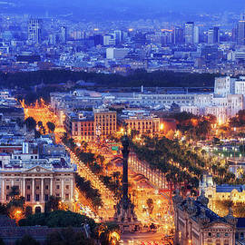 Artur Bogacki - City of Barcelona at Blue Hour