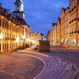 City of Jelenia Gora by Night