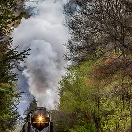 Class J 611 Steam Engine Approaching Black Mountain