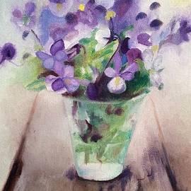 Jennifer Buerkle - Clear Solo Cup of Violets