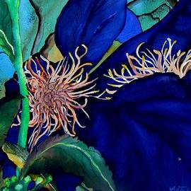 Lil Taylor - Clematis Regal in Purple and Blue SOLD