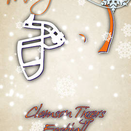 CLEMSON TIGERS CHRISTMAS CARD 2 - Joe Hamilton
