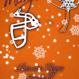 CLEMSON TIGERS CHRISTMAS CARD - Joe Hamilton