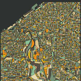 CLEVELAND CITY MAP - Jazzberry Blue