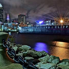 Frozen in Time Fine Art Photography - Cleveland Lakefront at Night