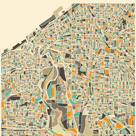 CLEVELAND MAP 2 - Jazzberry Blue