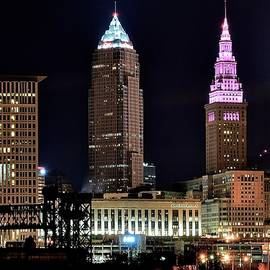 Frozen in Time Fine Art Photography - Cleveland Nightscape