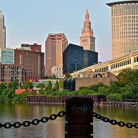 Frozen in Time Fine Art Photography - Cleveland Over the Cuyahoga River