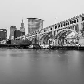 John McGraw - Cleveland Skyline in Black and White