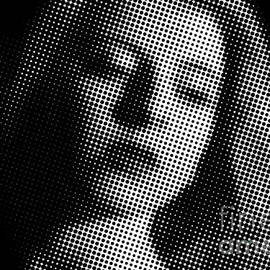 Gregory DUBUS - Close-Up Of Thoughtful Woman Halftone Black and White