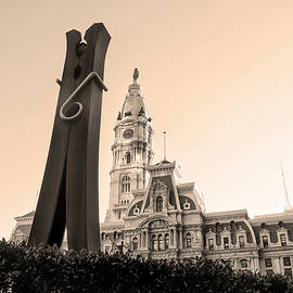 Bill Cannon - Clothes Pin and City Hall in Sepia