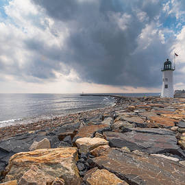 Brian MacLean - Clouds over Old Scituate Light
