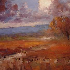 R W Goetting - Clouds over the vineyard