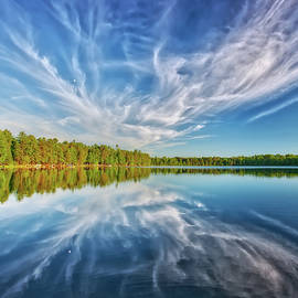 Jennifer Rondinelli Reilly - Clouds Reflecting in Paradise Lake - Eagle River - Wisconsin