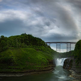 Clouds roll over Letchworth Upper Falls