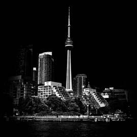 Brian Carson - CN Tower From Bathurst Quay Toronto Canada