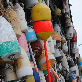 Linda  Howes - Collection of  Buoys in Bar Harbor Maine