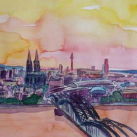 M Bleichner - Cologne Skyline with Deutz Bridge and Rhine II