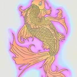 Justin Moore - Color Sketch Koi Fish