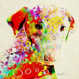 Ann Powell - Color Splash Dog - animal art