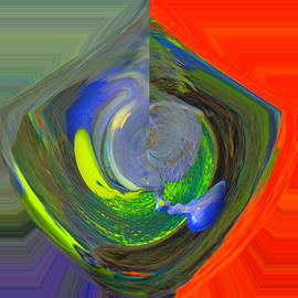Jeff Swan - Color swirled abstract