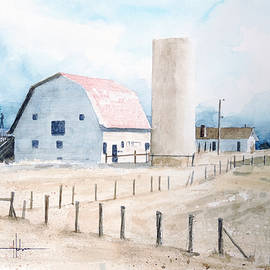 Richard Hahn - Colorado Red Roof Barn and Silo
