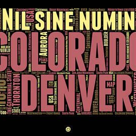 Colorado Word Cloud Map 1 - Naxart Studio