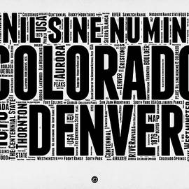 Colorado Word Cloud Map 2 - Naxart Studio
