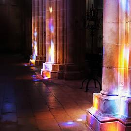 Menega Sabidussi - Colored Flecks of Sunlight in Batalha Cathedral