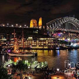 Kaye Menner - Colorful Activity Sydney Harbour by Kaye Menner