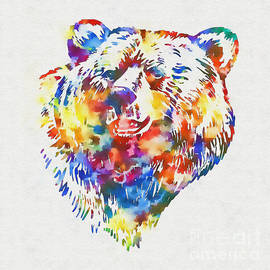 Olga Hamilton - Colorful Bear Art