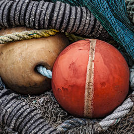 Colorful Buoys and Nets - Carol Leigh