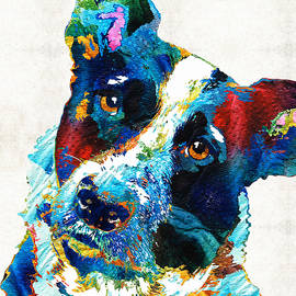 Sharon Cummings - Colorful Dog Art - Irresistible - By Sharon Cummings