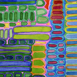 Heidi Capitaine - Colorful elongated Forms Pattern